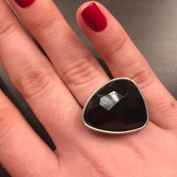 Francesca's Collections Jewelry - Large Black and Silver Statement Ring